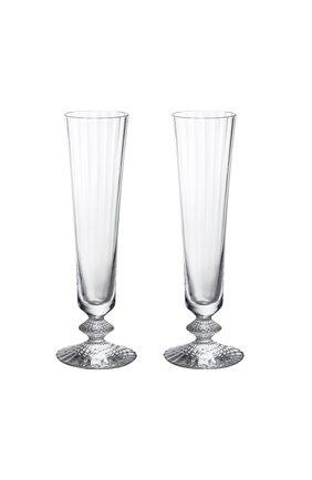 Мужского набор из 2-х фужеров для шампанского mille nuits на низкой ножке BACCARAT прозрачного цвета, арт. 2 811 795 | Фото 1