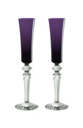 Набор из 2-х фужеров для шампанского mille nuits BACCARAT фиолетового цвета, арт. 2 811 587 | Фото 1