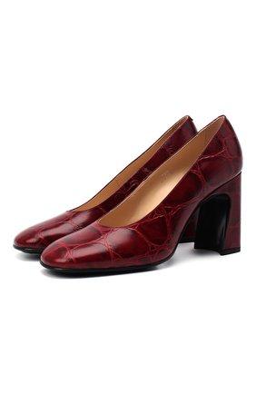 Женская кожаные туфли TOD'S красного цвета, арт. XXW83C0DE60XLX | Фото 1