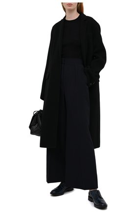 Женская кожаные дерби TOD'S синего цвета, арт. XXW60C0DE20EB5   Фото 2