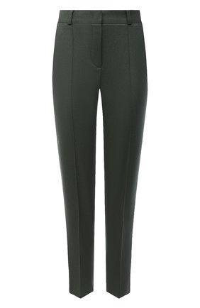 Женские кашемировые брюки LORO PIANA хаки цвета, арт. FAI8499 | Фото 1