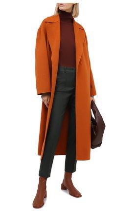 Женские кашемировые брюки LORO PIANA хаки цвета, арт. FAI8499 | Фото 2