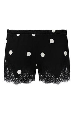 Женские шорты из шелка и хлопка DOLCE & GABBANA черно-белого цвета, арт. 03A02T/FSAY3 | Фото 1