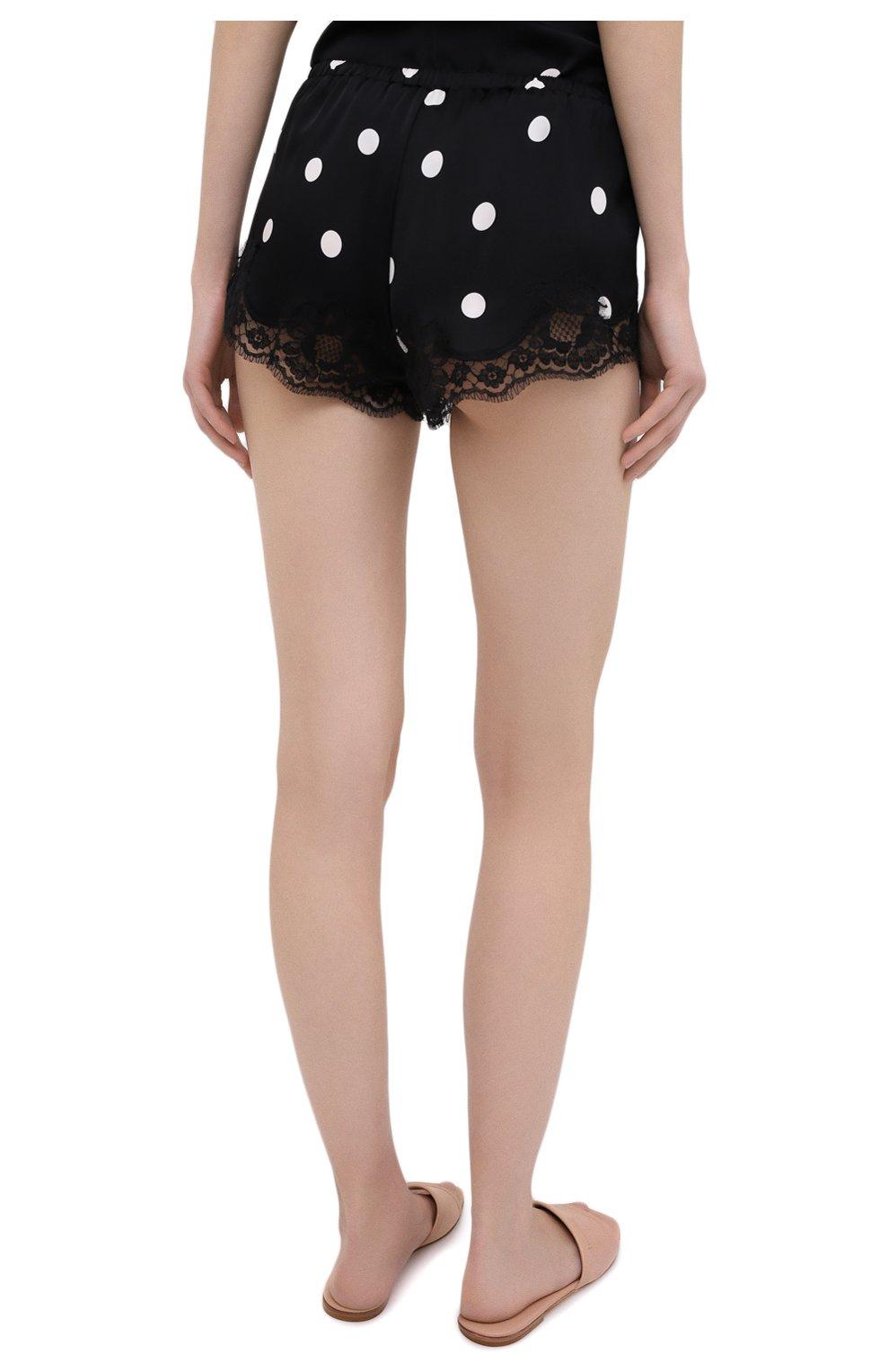 Женские шорты из шелка и хлопка DOLCE & GABBANA черно-белого цвета, арт. 03A02T/FSAY3 | Фото 4