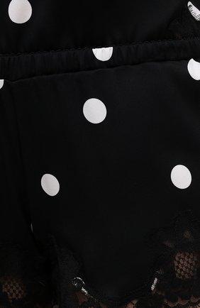 Женские шорты из шелка и хлопка DOLCE & GABBANA черно-белого цвета, арт. 03A02T/FSAY3 | Фото 5