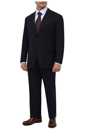 Мужская хлопковая сорочка ZILLI голубого цвета, арт. MFU-00401-01044/0001/45-49 | Фото 2 (Материал внешний: Хлопок; Рукава: Длинные; Длина (для топов): Стандартные; Случай: Формальный; Рубашки М: Regular Fit; Big sizes: Big Sizes; Стили: Классический; Воротник: Кент)