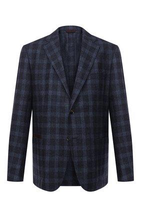 Мужской шерстяной пиджак LUCIANO BARBERA темно-синего цвета, арт. 111210/19230/58-62   Фото 1