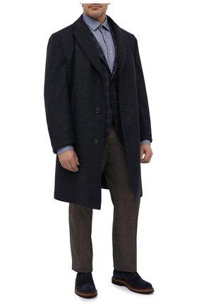 Мужской шерстяной пиджак LUCIANO BARBERA темно-синего цвета, арт. 111210/19230/58-62   Фото 2