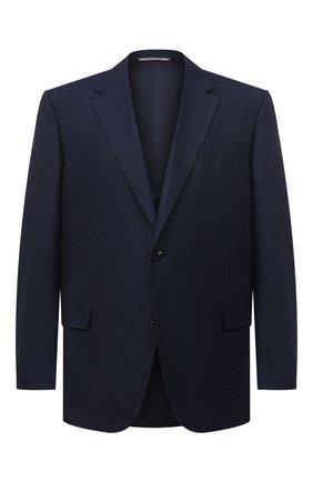 Мужской шерстяной пиджак CANALI темно-синего цвета, арт. 11280/CF02805/112/60-64   Фото 1