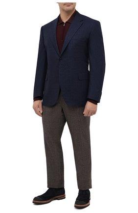 Мужской шерстяной пиджак CANALI темно-синего цвета, арт. 11280/CF02805/112/60-64   Фото 2