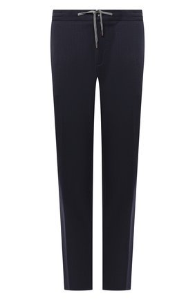Мужские шерстяные брюки MARCO PESCAROLO темно-синего цвета, арт. CARACCI0L0/4231 | Фото 1