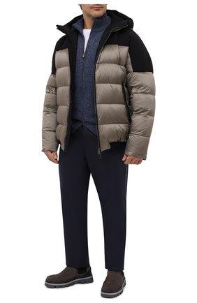 Мужские шерстяные брюки MARCO PESCAROLO темно-синего цвета, арт. CARACCI0L0/4231 | Фото 2