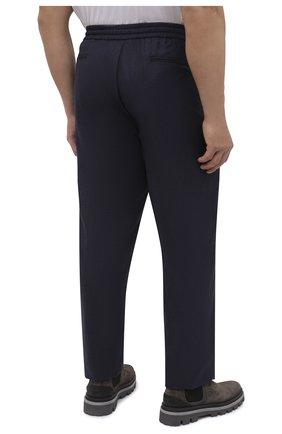 Мужские шерстяные брюки MARCO PESCAROLO темно-синего цвета, арт. CARACCI0L0/4231   Фото 4 (Big sizes: Big Sizes; Материал внешний: Шерсть; Длина (брюки, джинсы): Стандартные; Случай: Повседневный; Стили: Кэжуэл)