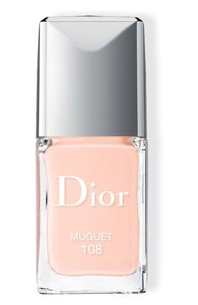 Лак для ногтей rouge dior vernis, 108 ландыш (10ml) DIOR бесцветного цвета, арт. F000355108 | Фото 1 (Ограничения доставки: flammable)