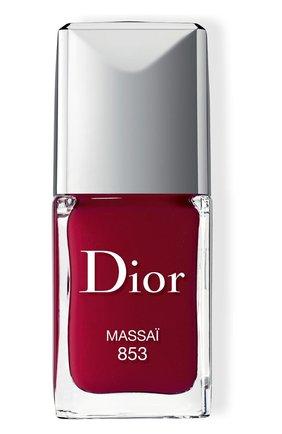 Лак для ногтей rouge dior vernis, 853 масаи (10ml) DIOR бесцветного цвета, арт. F000355853 | Фото 1 (Ограничения доставки: flammable)