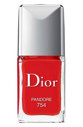 Лак для ногтей rouge dior vernis, 754 панлора DIOR бесцветного цвета, арт. F000355754 | Фото 1