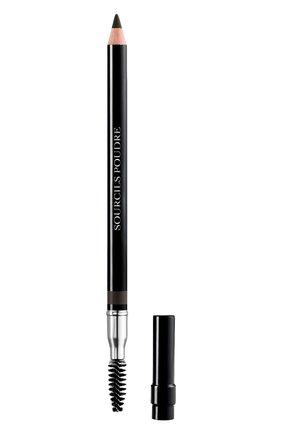 Пудровый карандаш для бровей dior powder eyebrow pencil, 093 черный DIOR бесцветного цвета, арт. F074630093 | Фото 1