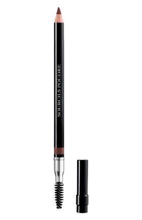 Пудровый карандаш для бровей dior powder eyebrow pencil, 593 коричневый DIOR бесцветного цвета, арт. F074630593 | Фото 1