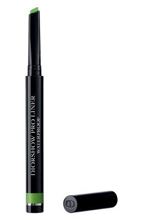 Женские карандаш-подводка для глаз diorshow pro liner, 456 матовый лайм DIOR бесцветного цвета, арт. F077535456 | Фото 1