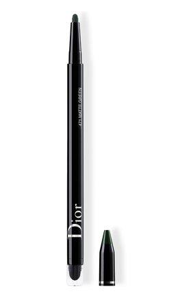 Женские водостойкая подводка для глаз diorshow 24h stylo, 471 матовый зеленый DIOR бесцветного цвета, арт. C014300471 | Фото 1