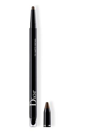 Женские подводка для глаз diorshow 24h stylo, 781 матовый коричневый DIOR бесцветного цвета, арт. C014300781 | Фото 1