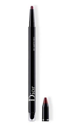 Женские водостойкая подводка для глаз diorshow 24h stylo, 861 матовый красный DIOR бесцветного цвета, арт. C014300861 | Фото 1