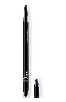 Женские водостойкая подводка для глаз diorshow 24h stylo, 176 матовый пурпурный DIOR бесцветного цвета, арт. C014300176 | Фото 1
