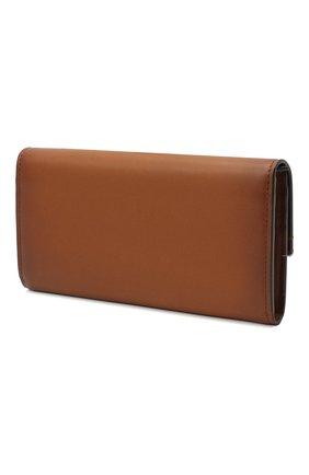 Женские кожаное портмоне RALPH LAUREN коричневого цвета, арт. 434817226 | Фото 2