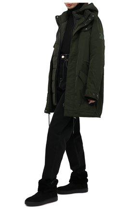 Женские замшевые сапоги SANTONI черного цвета, арт. WBCE60598NEAPFEZN01 | Фото 2