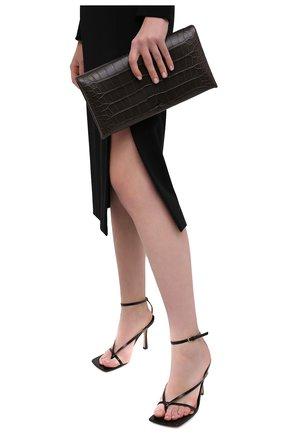 Женский клатч из кожи аллигатора TOM FORD хаки цвета, арт. L1373R-EAL001/AMIS   Фото 2 (Размер: medium; Женское Кросс-КТ: Клатч-клатчи, Вечерняя сумка)