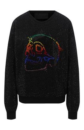 Женская хлопковый свитшот PHILIPP PLEIN черного цвета, арт. F20C WJO0635 PJO002N | Фото 1
