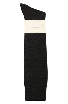 Женские гольфы softmerino FALKE серого цвета, арт. 47438   Фото 1 (Материал внешний: Шерсть)