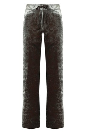 Женские брюки из вискозы ANN DEMEULEMEESTER зеленого цвета, арт. 2002-1414-P-175-049 | Фото 1