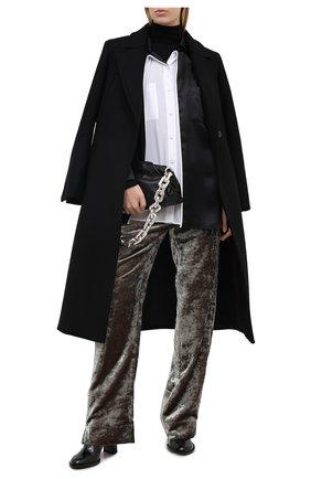 Женские брюки из вискозы ANN DEMEULEMEESTER зеленого цвета, арт. 2002-1414-P-175-049 | Фото 2