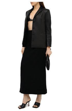 Женский топ-бра SAINT LAURENT черного цвета, арт. 632947/Y7B09 | Фото 2