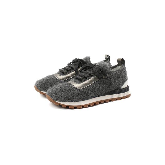 Текстильные кроссовки Brunello Cucinelli