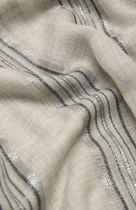 Мужские шарф BRUNELLO CUCINELLI серого цвета, арт. MSCDAGW41 | Фото 2