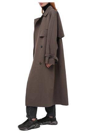 Женские кожаные кроссовки DOLCE & GABBANA черного цвета, арт. CK1791/AW918   Фото 2
