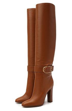 Женские кожаные ботфорты caroline DOLCE & GABBANA коричневого цвета, арт. CU0662/AW694   Фото 1