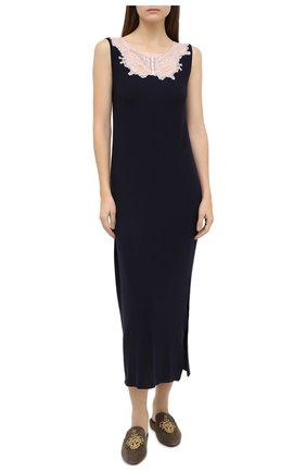 Женская сорочка GIANANTONIO PALADINI темно-синего цвета, арт. W01UC02/L | Фото 2