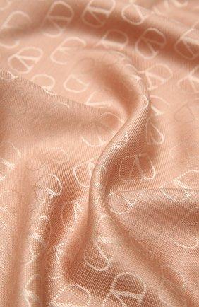 Мужские шарф из шелка и шерсти VALENTINO светло-бежевого цвета, арт. UW0ED007/AJB | Фото 2