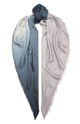 Женская шаль из шелка и шерсти VALENTINO синего цвета, арт. UW0EB104/ZVG | Фото 1