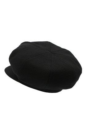 Женская шерстяное кепи Y`S черного цвета, арт. YB-H01-127 | Фото 2
