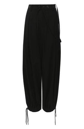 Женские шерстяные брюки YOHJI YAMAMOTO черного цвета, арт. FB-P52-101   Фото 1