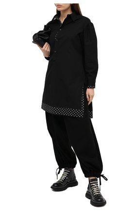 Женские шерстяные брюки YOHJI YAMAMOTO черного цвета, арт. FB-P52-101   Фото 2