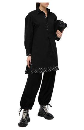 Женская хлопковая рубашка YOHJI YAMAMOTO черного цвета, арт. FB-B54-001   Фото 2