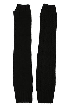 Женские кашемировые митенки DOLCE & GABBANA черного цвета, арт. FX984T/JAW5E | Фото 2 (Материал: Шерсть, Кашемир; Длина (верхняя одежда): Длинные; Женское Кросс-КТ: митенки)