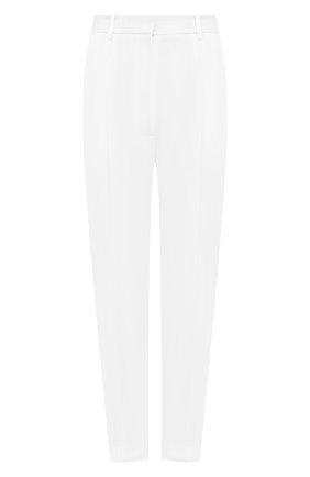 Женские шерстяные брюки ALEXANDER MCQUEEN белого цвета, арт. 585809/QJAAC | Фото 1