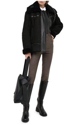 Женская дубленка TWINS FLORENCE черного цвета, арт. TWFAI20GIU0004B | Фото 2