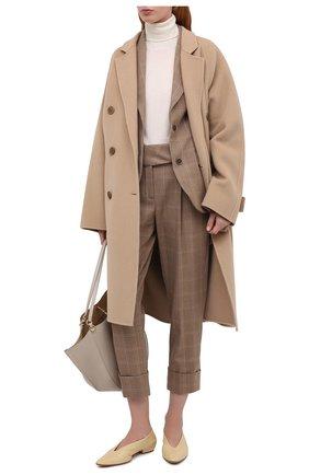 Женские шерстяные брюки ELEVENTY бежевого цвета, арт. B80PANB03 TES0B140 | Фото 2